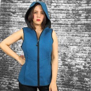 NWOT ~ GERRY Activewear Teal Hooded Vest
